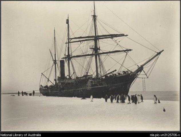 Australasian Antarctic Expedition leaves Hobart