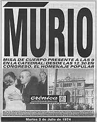Muerte de Peron