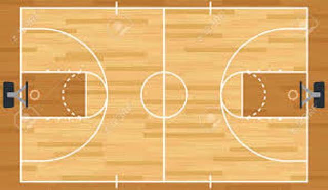 Se define el tamaño de la cancha del baloncesto