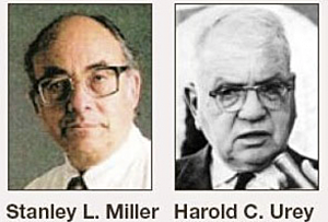 Miller and Urey chemical experiment
