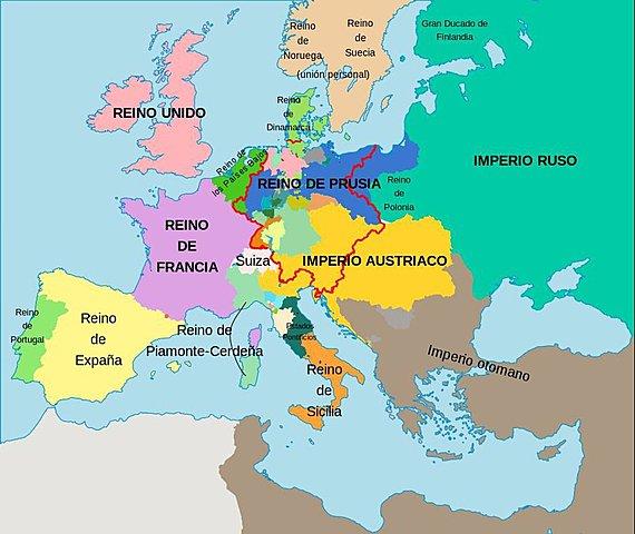 Los cambios territoriales del congreso de Viena