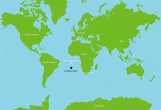 Napoleone viene esiliato nell'isola di San'Elena.
