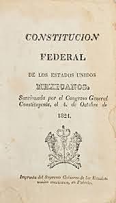 1824-Primera constitución mexicana