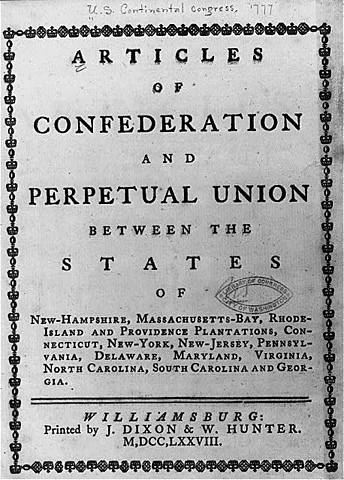 Articles of Confederation take effect.