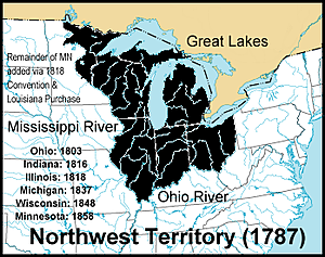 Northwest Ordinance outlines a detailed plan for organizing western territories.
