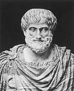Aristoteles schreibt seine Poetik