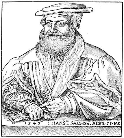 Der Meistersinger Hans Sachs schafft über 200 weltliche dramatische Werke: Fastnachtsspiele, Tragedien und Comedien