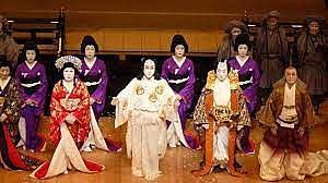 Verbot der Auftritte von Frauen im japanischen Kabuki-Theater, ab