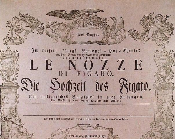 Das für sechs Jahre von der Zensur verbotene Ein toller Tag oder Figaros Hochzeit von Beaumarchais in Paris uraufgeführt