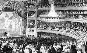Einführung der Gasbeleuchtung im Theater