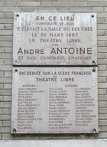"""Antoine gründet das """"Theätre Libre"""" in Paris"""
