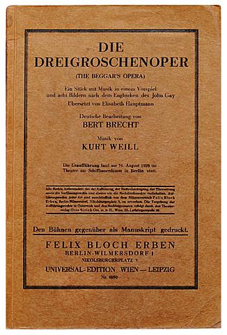 der Dreigroschenoper von Brecht und Weill in Berlin