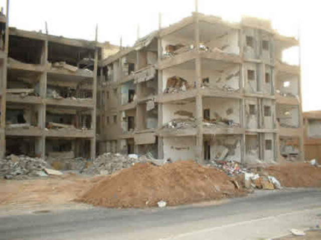 Housing Compound Attacked