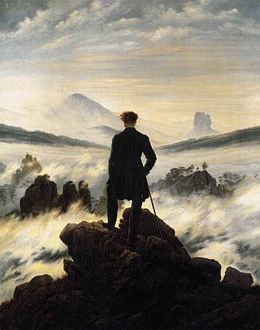 Il viandante davanti ad un mare di nebbia