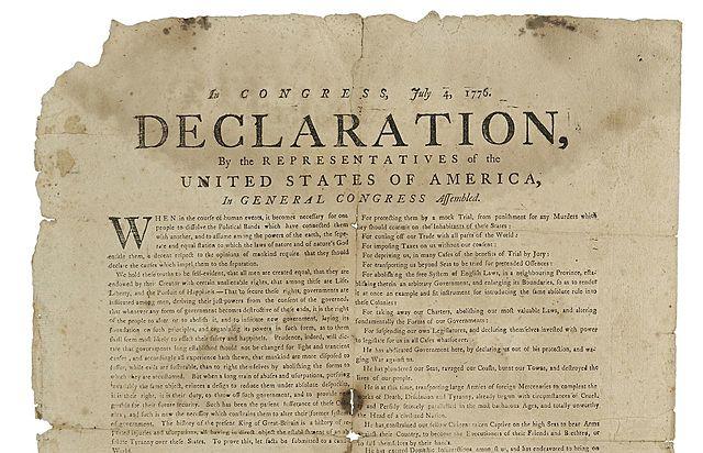 Declaración de Independencia de los Estados Unidos de América