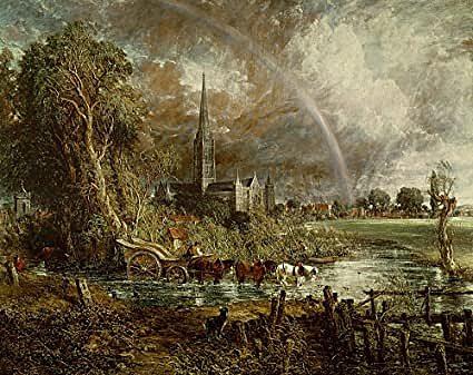 """""""la cattedrale di salisbury vista dai prati"""""""