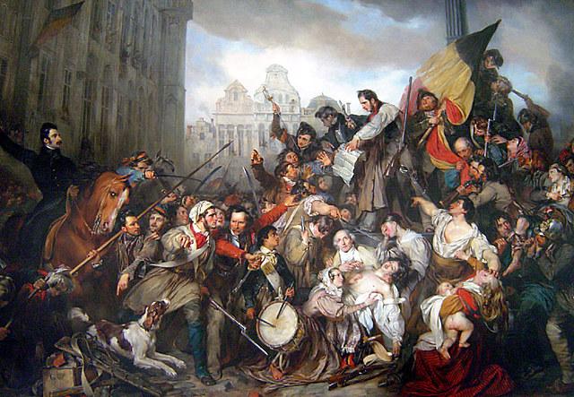 """Levantamiento de Bélgica y """"las tres jornadas gloriosas en Francia"""""""