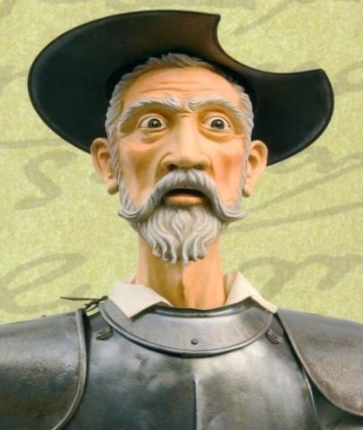 Don Quijote pelea dormido