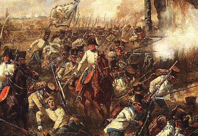 Napoleon Defeated at the Battle of Leipzig