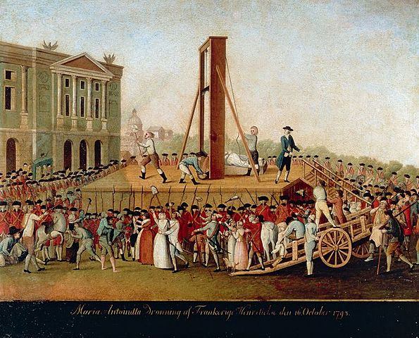 The Guillotining of Marie Antoinette