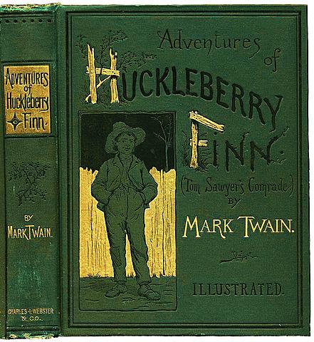 Las aventuras de Huckleberry Finn de Mark Twain.