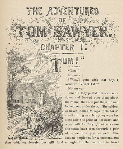 """""""Las aventuras de Tom Sawyer"""" de Mark Twain."""