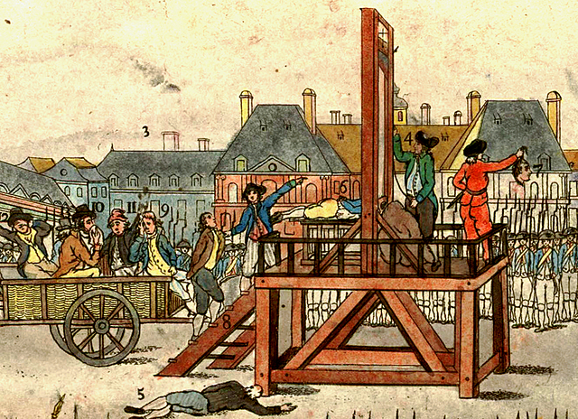 Robespierre guillotined