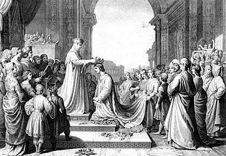 Papa Clemente VIII propone l'incoronazione poetica a Tasso