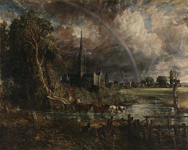 La Catterdrale di Salisbury vista dai prati