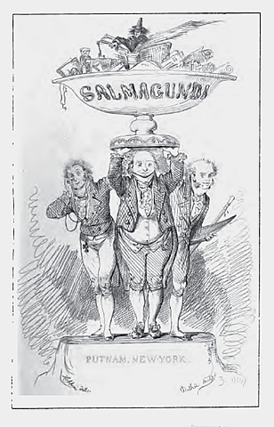 "Periódico satírico Newyorkino ""Salmagundi"" de Washington Irving."