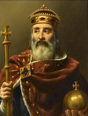 Inicio do governo de Carlos Magno