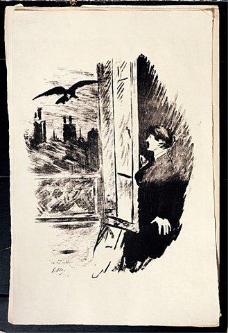"""""""El cuervo"""" (poema) de E. Allan Poe."""