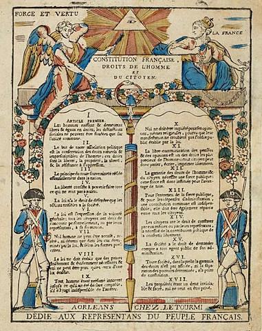 """The declaration of """"Droits de l'homme"""""""