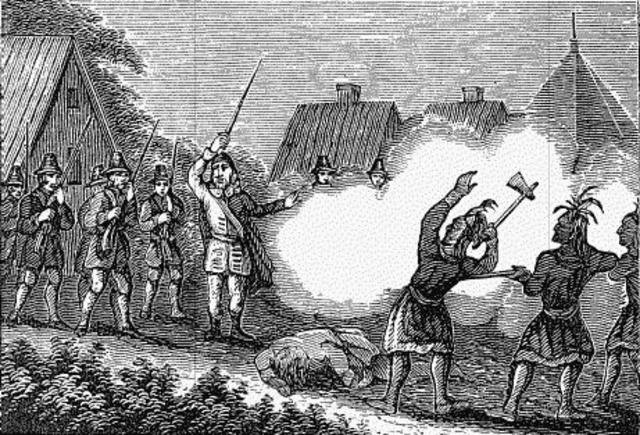 White settlers invade indian territory