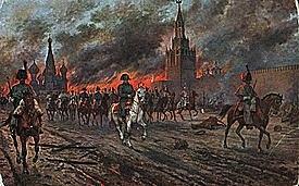 Napoleon takes Moscow