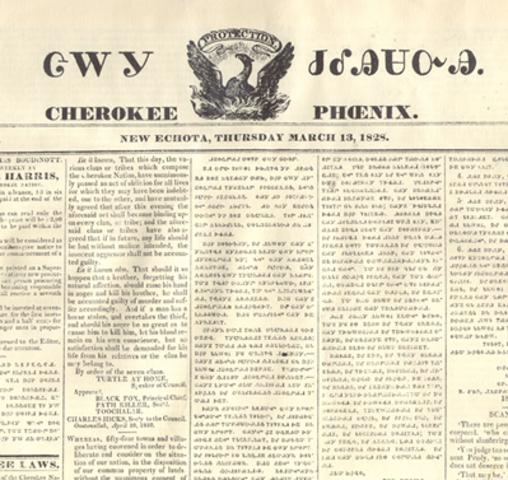 """Cherokee Pheonix"" is released"