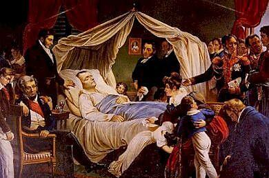 Death of Napoleon on  the island of Saint Helena