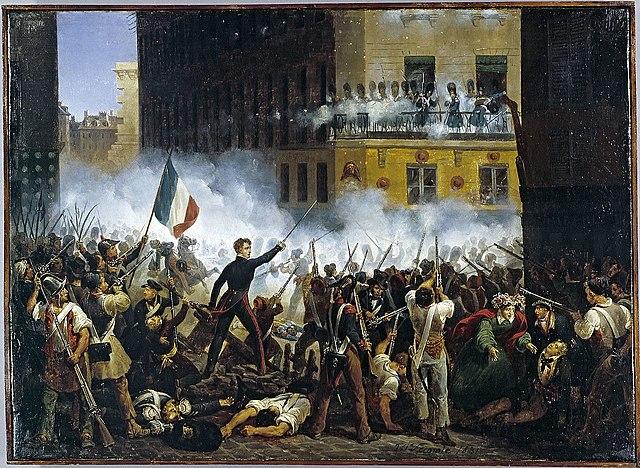 July Revolution, les Trois Glorieusus, 3 days of Parisian revolution