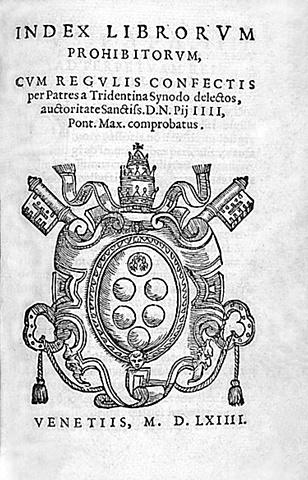 Prima pubblicazione dell'Indice dei libri proibiti