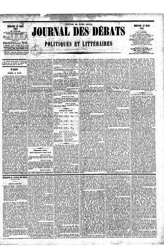 """Закрытие газеты """"Журналь де Деба"""""""