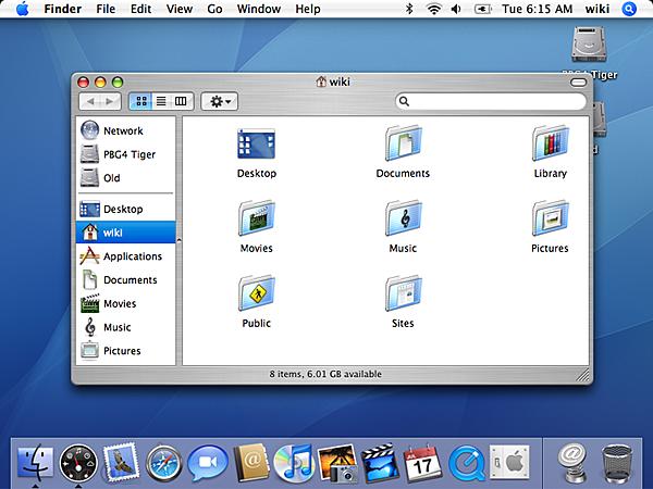 Mac OS X v 10.4