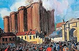 Wybuch rewolucji francuskiej - zburzenie Bastylii