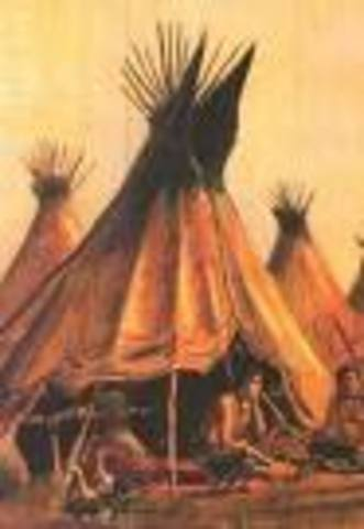 American Indians settle in permanently