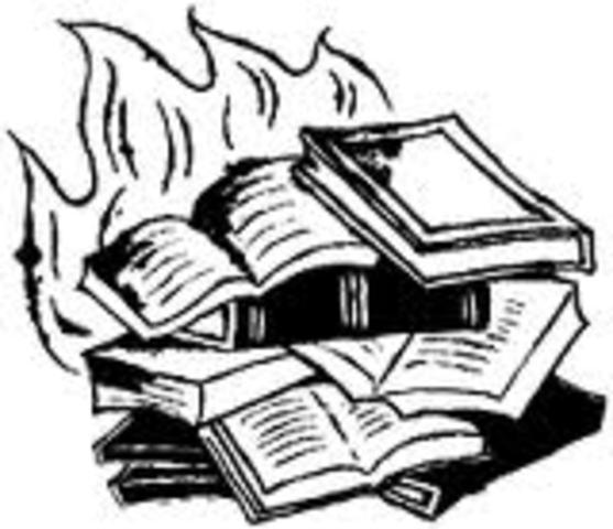 quemando los libros de caballeria