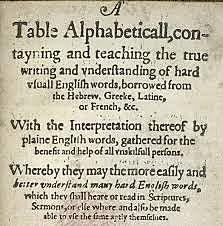 'A Table Alphabeticall'