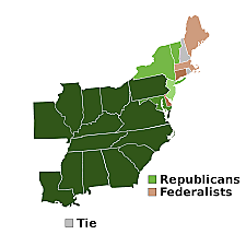 First Two-Party System Created (Dem-Rep vs Federalist)