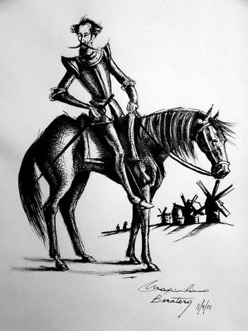 El quijote en el entierro