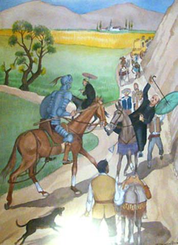 Don quijote y los frailes