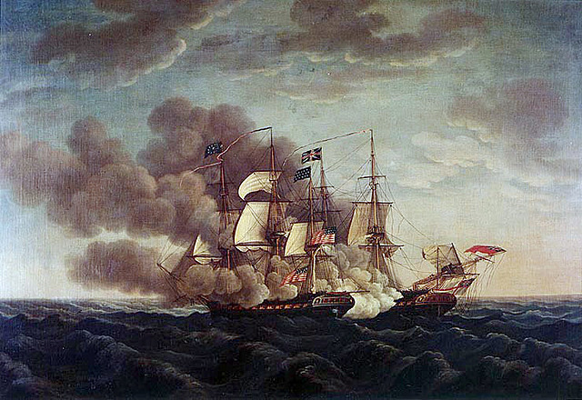 The USS Constitution defeats the HMS