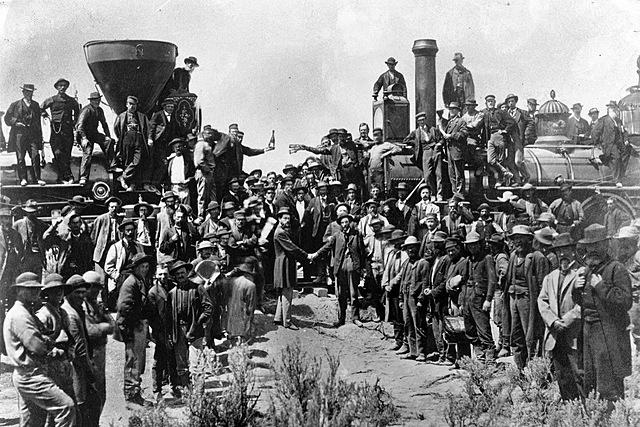 The Transcontinental Railroad Is Completed